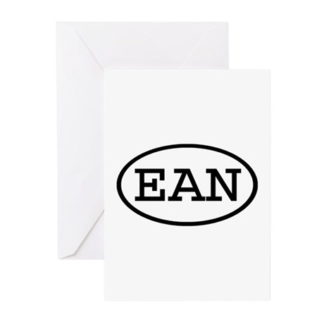 EAN Oval Greeting Cards (Pk of 10)