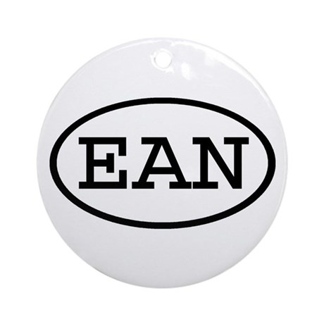 EAN Oval Ornament (Round)