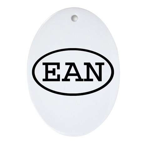 EAN Oval Oval Ornament