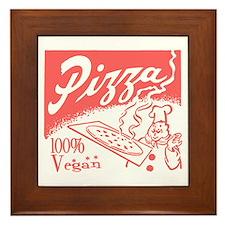 Vegan Pizza Framed Tile