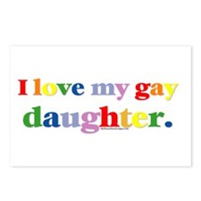 I love my gay daughter. Postcards (Package of 8)