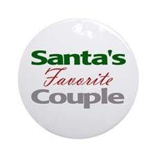 Santa's Favorite Couple Ornament (Round)