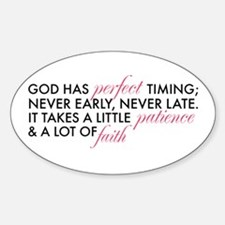 God has Perfect Timing Decal