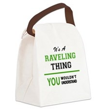 Funny Ravel Canvas Lunch Bag