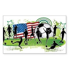 USA Women Soccer2 Decal