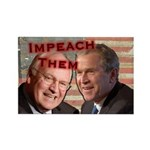 Impeach Them Rectangle Magnet (10 pack)