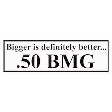 50 BMG Bumper Bumper Sticker
