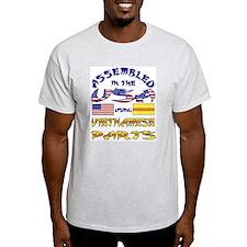 USA/Vietnamese Parts Ash Grey T-Shirt