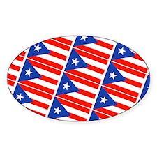Puerto Rican Flags Bandera Decal