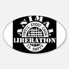 Animal Liberation - Until Every Cage is Em Decal