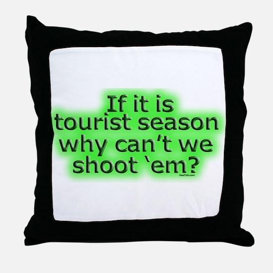 Tourist season Throw Pillow
