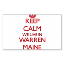 Keep calm we live in Warren Maine Decal