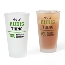 Funny Rudy Drinking Glass
