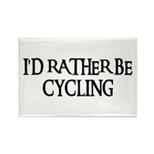 I'D RATHER BE CYCLING Rectangle Magnet