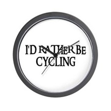 I'D RATHER BE CYCLING Wall Clock