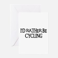 I'D RATHER BE CYCLING Greeting Cards (Pk of 10