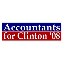 Accountants for Clinton '08 bumper sticker