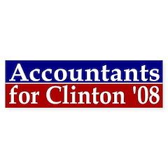 Accountants for Clinton '08 bumper sticker