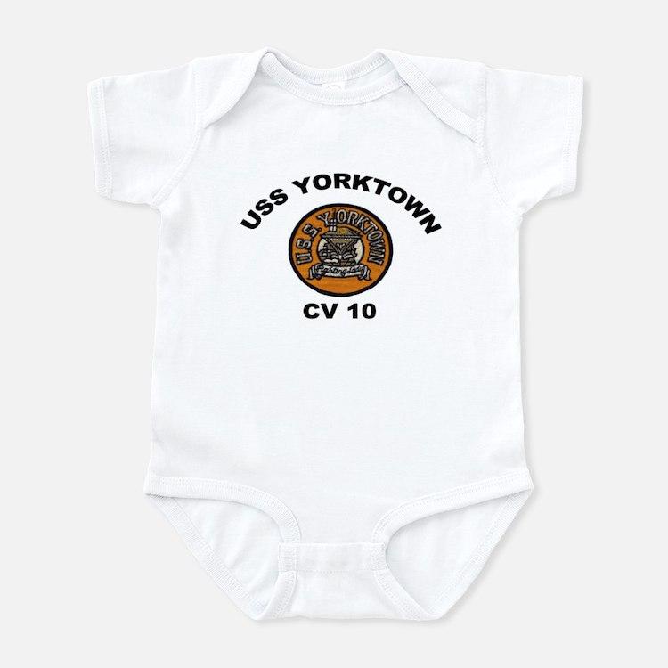 USS Yorktown CVA 10 Infant Bodysuit