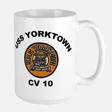 USS Yorktown CVA 10 Large Mug