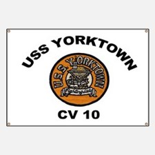 USS Yorktown CVA 10 Banner