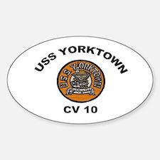 USS Yorktown CVA 10 Oval Decal