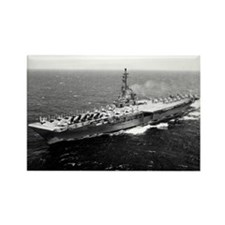 USS Yorktown Ship's Image Rectangle Magnet