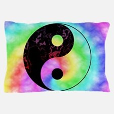 Rainbow Tie Dye Yin Yang Pillow Case