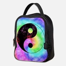 Rainbow Tie Dye Yin Yang Neoprene Lunch Bag