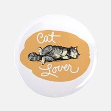"""Cat Lover 3.5"""" Button"""