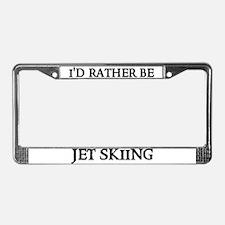 I'D RATHER BE JET SKIING License Plate Frame
