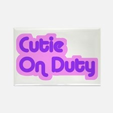 """Cutie on Duty"" Rectangle Magnet"