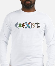Coexist with Animals Long Sleeve T-Shirt