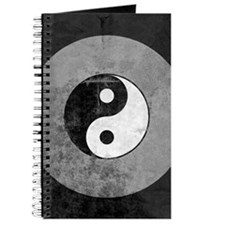 Distressed Yin Yang Symbol Journal