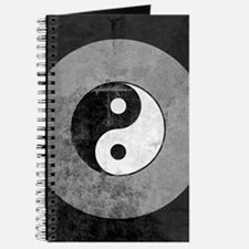 Distressed Yin Yang Symbol Journal