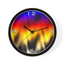 Burning Rainbow Wall Clock