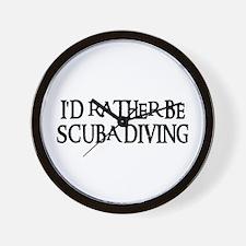 I'D RATHER BE SCUBA DIVING Wall Clock