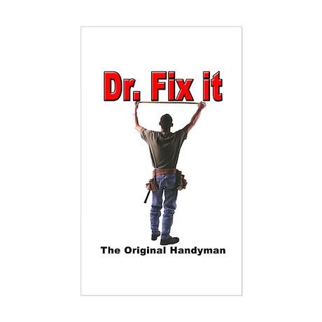 Dr Fix itRectangle Sticker