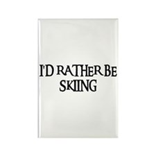 I'D RATHER BE SKIING Rectangle Magnet