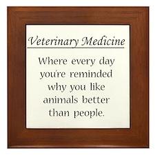 Vet Med: Animals Better Framed Tile