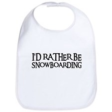 I'D RATHER BE SNOWBOARDING Bib
