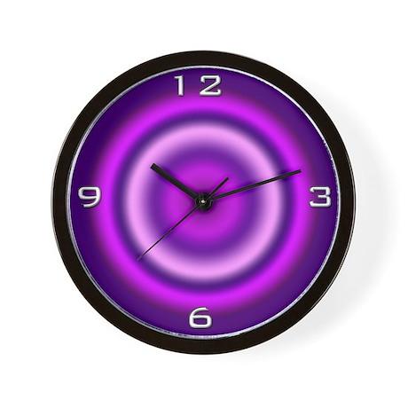 Purple Halo Wall Clock
