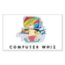 Computer Whiz Rectangle Decal