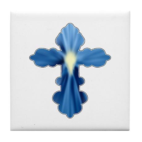 Holy Spirit Cross Tile Coaster
