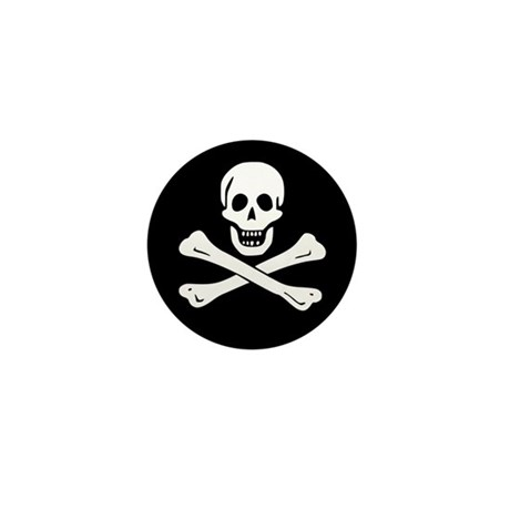 Classic Skull and Crossbones Mini Button (100 pack