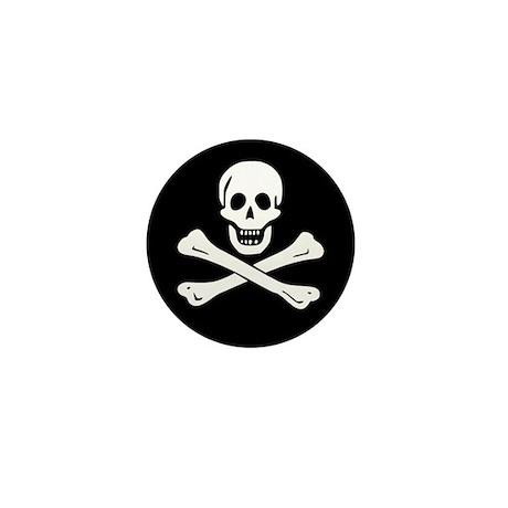 Classic Skull and Crossbones Mini Button