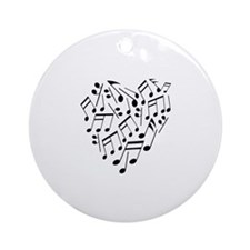 MUSIC HEART Ornament (Round)
