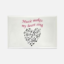MUSIC MAKES HEART SING Magnets