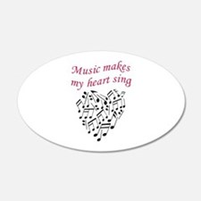 MUSIC MAKES HEART SING Wall Decal