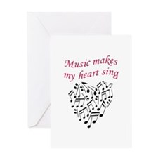 MUSIC MAKES HEART SING Greeting Cards